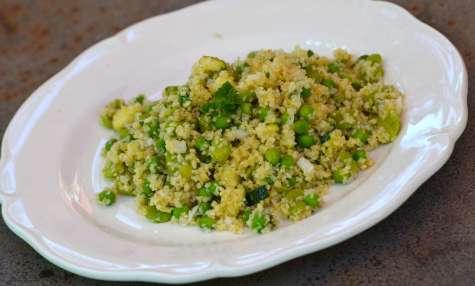 Taboulé de boulgour aux légumes verts