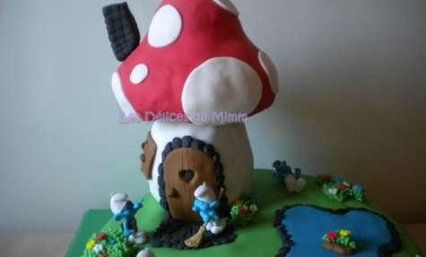 Gâteau Au pays des Schtroumpfs