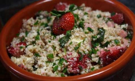 Taboulé fraises et basilic