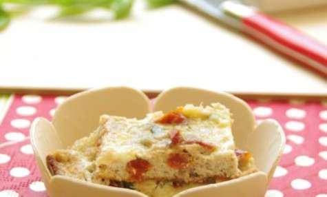Fine tortilla au thon et tomates confites