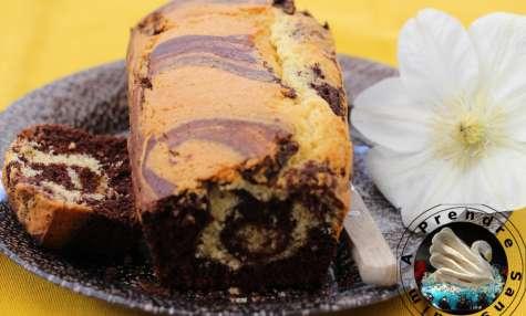 Cake marbré amandes chocolat