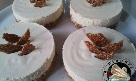 Cheesecake à la mousse de mangue sans cuisson
