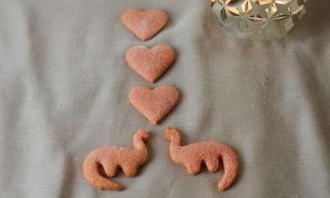 Petits sablés aux biscuits roses de Reims