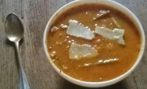 Soupe italienne aux Tomates, légumes et pesto...Minestrone