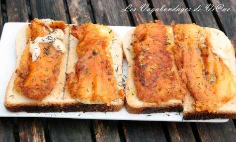 Halloumi grillé sur toast
