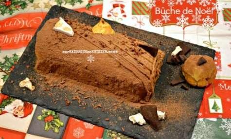 Bûche de Noël au nougat et éclair chocolat caramel