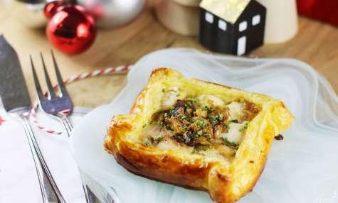 Feuilleté de Joues de Sandre, Foie gras et Sirop d'Érable