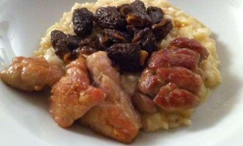 Ris de veau, risotto aux morilles