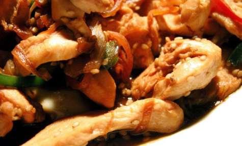 Poulet aux crevettes épicé