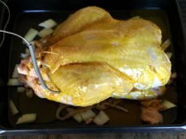 Chapon farci au foie gras : la cuisson - Etape 10