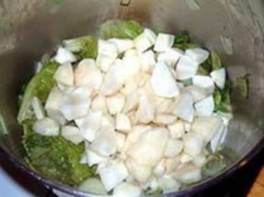 Potage aux topinambours et salade de saison