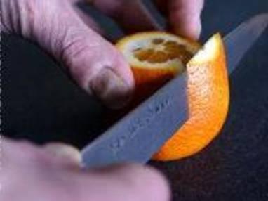 Peler une orange à vif - Etape 4