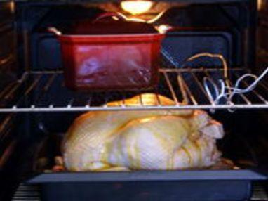 Chapon farci au foie gras : la cuisson - Etape 11