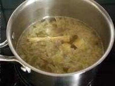 Soupe de poulet au lait de coco - Etape 3