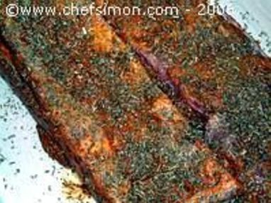Travers de porc au barbecue - Etape 6
