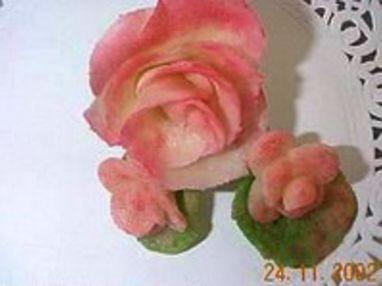 Roses en pâte d'amande - Etape 10