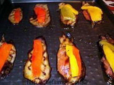 Tranches d'aubergines grillées - Etape 8