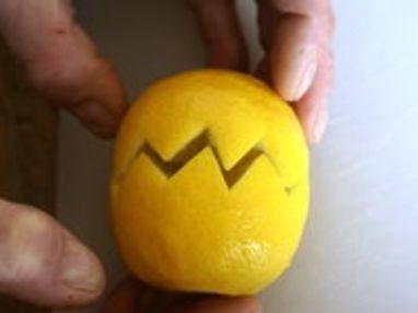 Historier un citron en dents de loup - Etape 5