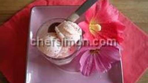 Glace yaourt au coquelicot