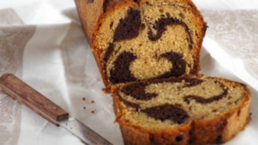 Cake au Yaourt de Chèvre Marbré Choco Praliné