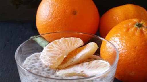 Verrine de chia aux agrumes et vanille