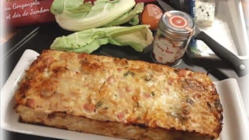 Flan de chou fleur au Gorgonzola et dés de jambon