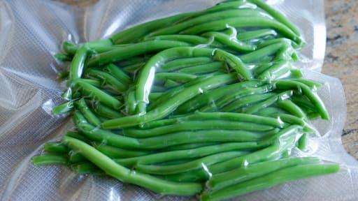 Conserver les haricots verts sous-vide