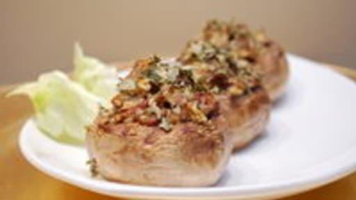 Champignons farcis au foie gras