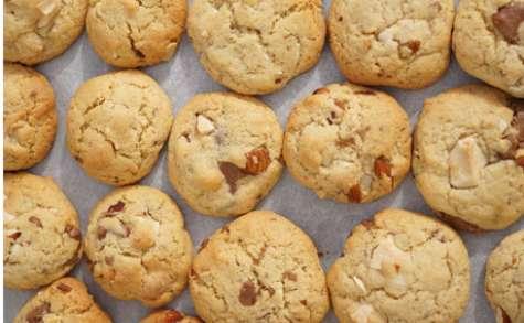 Cookies caramelia, chocolat blanc et amandes