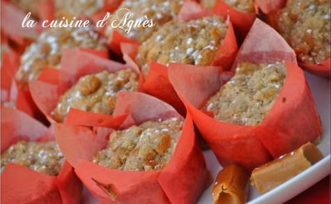 muffins streusel pommes caramel
