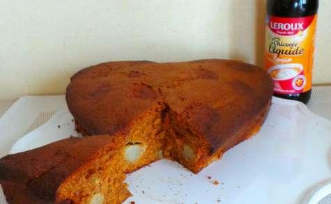 Gâteau à la chicorée et à la poire
