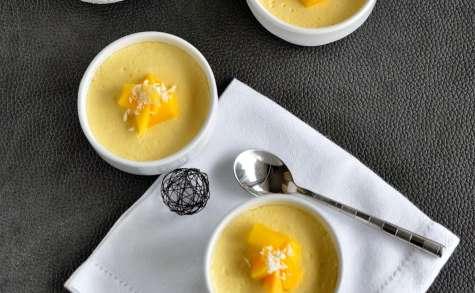 Petits pots de crème à la mangue ( sans oeufs)
