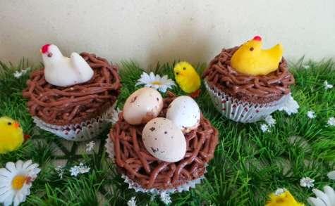 Cupcakes nids de Pâques au chocolat