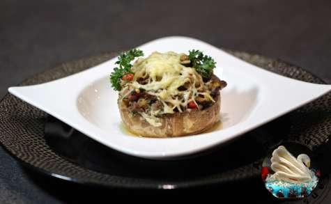 Champignons de Paris farcis au bœuf