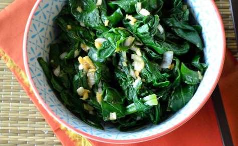 Salade d'épinards épicée