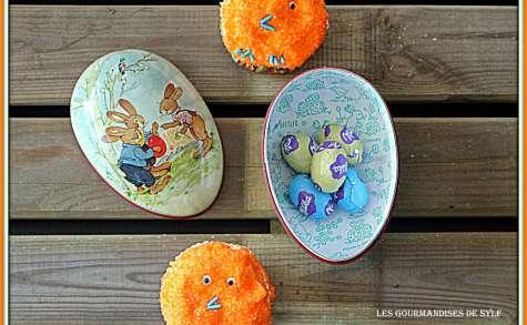 Cupcakes poussins pour Pâques