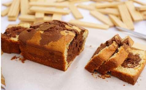 Cake marbré amande vanille et chocolat