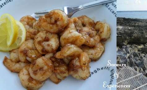 Crevettes Succulentes au Miel et à l'Ail