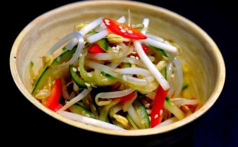 Salade concombre soja poivron à la japonaise