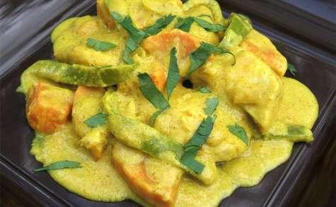 Curry de poulet et patates douces