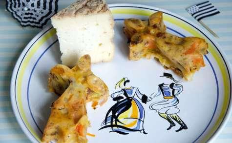 Muffins aux légumes et à la Tome de Rhuys