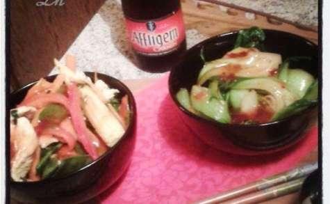 Wok de légumes et poulet à la Coriandre