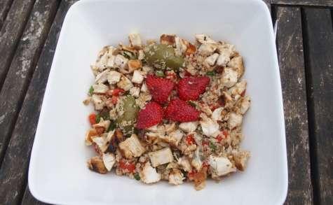 Salade de quinoa au poivron et tomates confites