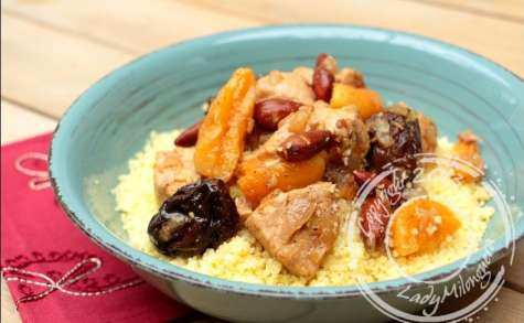 Tajine express de poulet aux fruits secs