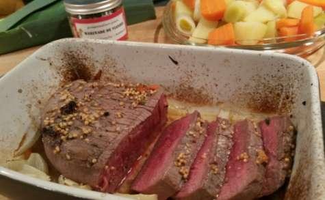Rôti de bœuf en marinade