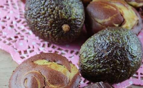Muffins marbrés avocat et chocolat noir