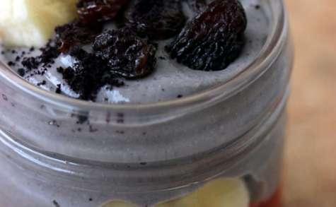 Crème en verrine, aux baies d'açaï