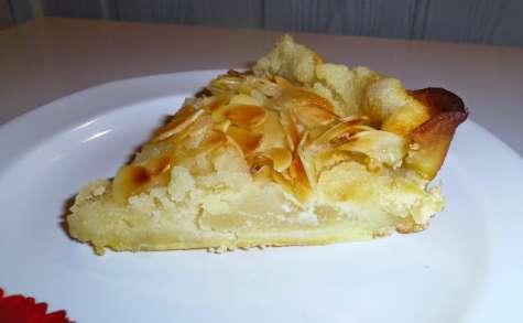 Tarte bourdaloue: Poires et crème aux amandes
