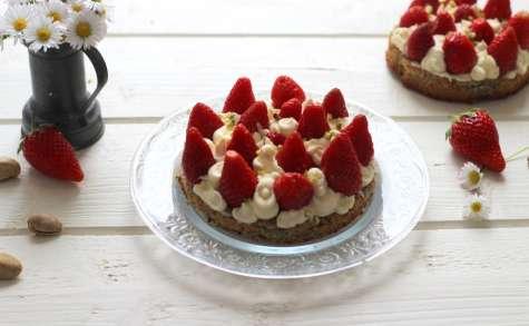 Tartelettes à la fraise, pistache et mascarpone