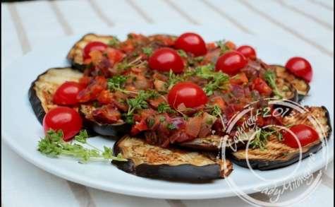 Salade d'aubergine et tomate
